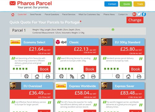 Pharos Parcel international parcel delivery broker