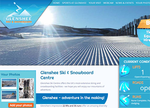 Book Sking at Glenshee Scotland's biggest snow sports resport