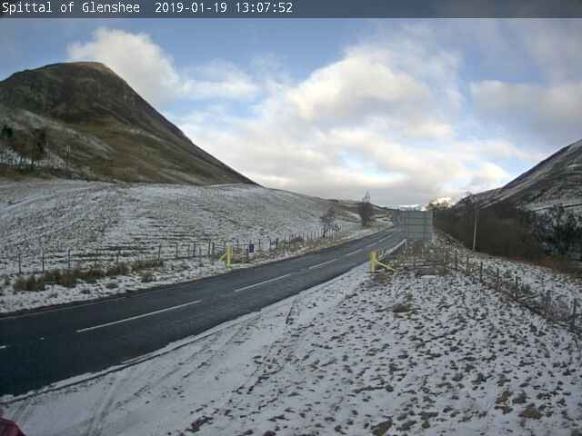 Webcam image from the Spital of Glenshee